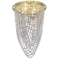 Elegant Lighting Tranquil 4 Light Flush Mount in Gold with Swarovski Strass Clear Crystal 2525F14G/SS