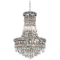 Elegant Lighting Tranquil 6 Light Pendant in Chrome with Swarovski Strass Clear Crystal 2526D12C/SS