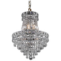 Elegant Lighting Tranquil 6 Light Pendant in Chrome with Royal Cut Clear Crystal 2526D14C/RC