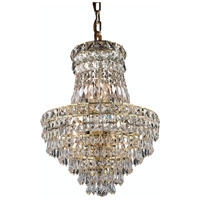 Elegant Lighting Tranquil 6 Light Pendant in Gold with Royal Cut Clear Crystal 2526D14G/RC