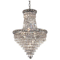 Elegant Lighting Tranquil 12 Light Dining Chandelier in Chrome with Elegant Cut Clear Crystal 2526D18C/EC