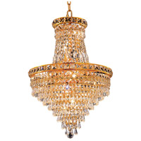 Elegant Lighting Tranquil 12 Light Dining Chandelier in Gold with Elegant Cut Clear Crystal 2526D18G/EC