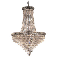 Elegant Lighting Tranquil 22 Light Dining Chandelier in Chrome with Royal Cut Clear Crystal 2526D22C/RC