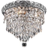 Elegant Lighting Tranquil 4 Light Flush Mount in Chrome with Swarovski Strass Clear Crystal 2526F10C/SS