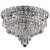 Elegant Lighting Tranquil 4 Light Flush Mount in Chrome with Swarovski Strass Clear Crystal 2526F12C/SS