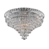 Elegant Lighting Tranquil 10 Light Flush Mount in Chrome with Elegant Cut Clear Crystal 2526F20C/EC alternative photo thumbnail