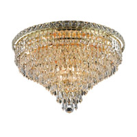 Elegant Lighting Tranquil 10 Light Flush Mount in Gold with Elegant Cut Clear Crystal 2526F20G/EC alternative photo thumbnail