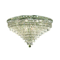 Elegant Lighting 2526F24C/SS Tranquil 12 Light 24 inch Chrome Flush Mount Ceiling Light in Swarovski Strass alternative photo thumbnail