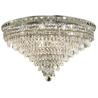 Elegant Lighting Tranquil 12 Light Flush Mount in Chrome with Swarovski Strass Clear Crystal 2526F24C/SS