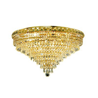 Elegant Lighting 2526F24G/SS Tranquil 12 Light 24 inch Gold Flush Mount Ceiling Light in Swarovski Strass alternative photo thumbnail