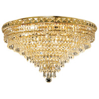 Elegant Lighting Tranquil 12 Light Flush Mount in Gold with Royal Cut Clear Crystal 2526F24G/RC