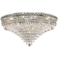 Tranquil 18 Light 30 inch Chrome Flush Mount Ceiling Light in Swarovski Strass