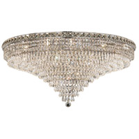 Tranquil 21 Light 36 inch Chrome Flush Mount Ceiling Light in Royal Cut
