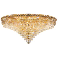 Elegant Lighting Tranquil 21 Light Flush Mount in Gold with Elegant Cut Clear Crystal 2526F36G/EC