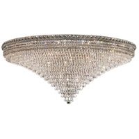 Elegant Lighting Tranquil 33 Light Flush Mount in Chrome with Swarovski Strass Clear Crystal 2526F48C/SS