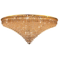 Tranquil 33 Light 48 inch Gold Flush Mount Ceiling Light in Elegant Cut