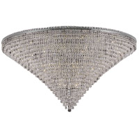 Elegant Lighting Tranquil 48 Light Flush Mount in Chrome with Swarovski Strass Clear Crystal 2526F60C/SS