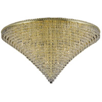 Tranquil 48 Light 60 inch Gold Flush Mount Ceiling Light in Elegant Cut