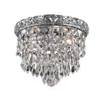 Elegant Lighting 2526F8C/RC Tranquil 2 Light 8 inch Chrome Flush Mount Ceiling Light in Royal Cut alternative photo thumbnail