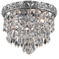 Elegant Lighting Tranquil 2 Light Flush Mount in Chrome with Swarovski Strass Clear Crystal 2526F8C/SS