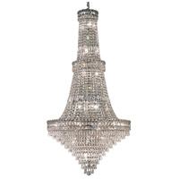 Elegant Lighting Tranquil 34 Light Foyer in Chrome with Swarovski Strass Clear Crystal 2526G28C/SS