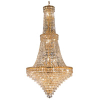 Elegant Lighting Tranquil 34 Light Foyer in Gold with Swarovski Strass Clear Crystal 2526G28G/SS