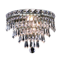 Elegant Lighting Tranquil 3 Light Wall Sconce in Chrome with Royal Cut Clear Crystal 2526W12C/RC alternative photo thumbnail