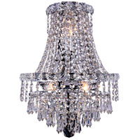 Elegant Lighting Tranquil 3 Light Wall Sconce in Chrome with Elegant Cut Clear Crystal 2526W12C/EC