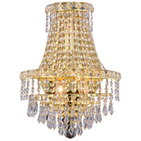 Elegant Lighting Tranquil 3 Light Wall Sconce in Gold with Elegant Cut Clear Crystal 2526W12G/EC alternative photo thumbnail