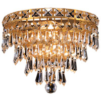 Elegant Lighting Tranquil 3 Light Wall Sconce in Gold with Elegant Cut Clear Crystal 2526W12G/EC