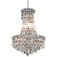 Elegant Lighting Tranquil 6 Light Pendant in Chrome with Royal Cut Clear Crystal 2527D12C/RC
