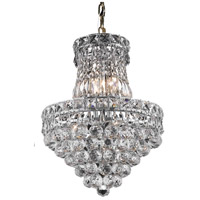 Elegant Lighting Tranquil 6 Light Pendant in Chrome with Royal Cut Clear Crystal 2527D14C/RC