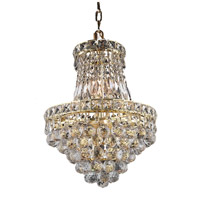 Elegant Lighting Tranquil 6 Light Pendant in Gold with Swarovski Strass Clear Crystal 2527D14G/SS