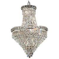 Elegant Lighting Tranquil 12 Light Dining Chandelier in Chrome with Elegant Cut Clear Crystal 2527D18C/EC