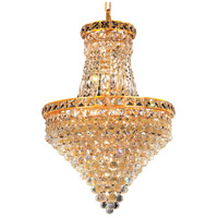 Elegant Lighting Tranquil 12 Light Dining Chandelier in Gold with Swarovski Strass Clear Crystal 2527D18G/SS