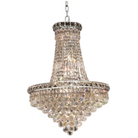 Elegant Lighting Tranquil 22 Light Dining Chandelier in Chrome with Elegant Cut Clear Crystal 2527D22C/EC