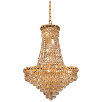 Elegant Lighting Tranquil 22 Light Dining Chandelier in Gold with Elegant Cut Clear Crystal 2527D22G/EC