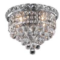 Elegant Lighting Tranquil 4 Light Flush Mount in Chrome with Elegant Cut Clear Crystal 2527F10C/EC