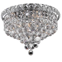 Elegant Lighting Tranquil 4 Light Flush Mount in Chrome with Swarovski Strass Clear Crystal 2527F12C/SS