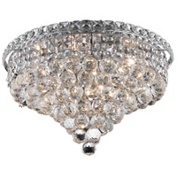 Elegant Lighting Tranquil 8 Light Flush Mount in Chrome with Swarovski Strass Clear Crystal 2527F18C/SS