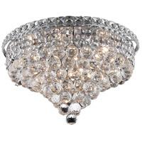 Elegant Lighting 2527F18C/RC Tranquil 8 Light 18 inch Chrome Flush Mount Ceiling Light in Royal Cut