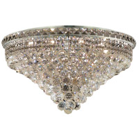 Elegant Lighting Tranquil 12 Light Flush Mount in Chrome with Swarovski Strass Clear Crystal 2527F24C/SS