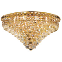 Elegant Lighting Tranquil 12 Light Flush Mount in Gold with Elegant Cut Clear Crystal 2527F24G/EC