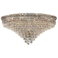 Tranquil 18 Light 30 inch Chrome Flush Mount Ceiling Light in Spectra Swarovski