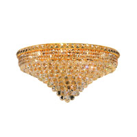 Elegant Lighting 2527F30G/RC Tranquil 18 Light 30 inch Gold Flush Mount Ceiling Light in Royal Cut alternative photo thumbnail