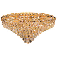 Elegant Lighting Tranquil 18 Light Flush Mount in Gold with Spectra Swarovski Clear Crystal 2527F30G/SA