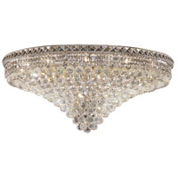 Elegant Lighting Tranquil 21 Light Flush Mount in Chrome with Swarovski Strass Clear Crystal 2527F36C/SS