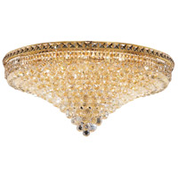Elegant Lighting Tranquil 21 Light Flush Mount in Gold with Swarovski Strass Clear Crystal 2527F36G/SS