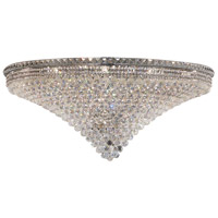 Elegant Lighting Tranquil 33 Light Flush Mount in Chrome with Swarovski Strass Clear Crystal 2527F48C/SS