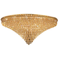 Elegant Lighting Tranquil 33 Light Flush Mount in Gold with Swarovski Strass Clear Crystal 2527F48G/SS